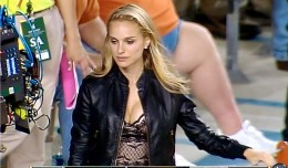 Natalie Portman made an appearance at Saturday's 56-50 win over Baylor by Texas. Perhaps it is a sign of better things to come for the Longhorns.